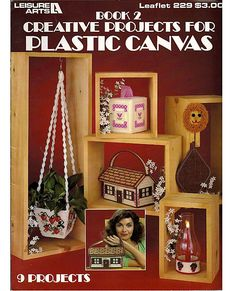 Book 2 Creative Projects For Plastic Canvas Pattern Leaflet  Leisure Arts 229. $5.00, via Etsy.