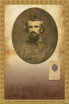 """High resolution framed art insert, """"Confederate Wizard of the Saddle"""", Lieutenant General Nathan Bedford Forrest. Also, known as """"Devil Forrest"""". Click the image to see the magnificent resolution, magnification, detail and custom graphics. Learn more at www.BurnsandCoGallery.com. $1995.00 for framer art: https://www.pinterest.com/pin/414190496959928415/"""