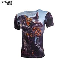 Item Type: Tops Tops Type: Tees Gender: Men Pattern Type: Print Sleeve Style: short sleeve Style: Fashion Brand Name: TUNSECHY Fabric Type: Jersey Hooded: No Material: Polyester,Lycra Collar: O-Neck S
