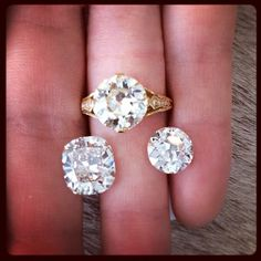 #cushioncut #roundcut #diamonds #oldeuropeancut #oldvintage #vintagediamond #jewelry #snqueens #snqueensjewelry
