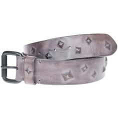 Riccardo Forconi Smooth Stud Taupe Leather belt with studs ($245) via Polyvore