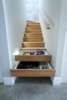 #12. Install stairs that double as drawers