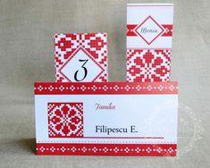 "Place-card / plic de bani nunta cu motive traditionale romanesti – ""MARA"" Place Cards, Coding, Programming"