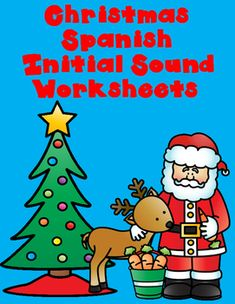 Your students will love practicing initial sound skills with these Christmas themed worksheets!  My sonido inicial worksheets are hands on, engaging, educational, creative, and best of all FUN!  You can always count on Bilingual Teacher World to have the best Spanish worksheets on TPT!!
