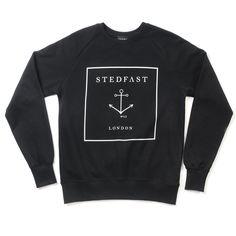 Stedfast London Black sweatshirt mens Anchor