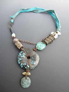 Turquoise Tribal Queen Artisan Necklace by stacilouise