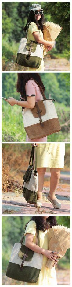 Handmade Waxed Canvas Tote Bag Messenger Bag Handbag Cross Body Bag Shoulder Bag LG01 -------------------------------- Overview: Design: Casual Tote Bag In Stock: 3-5 Days For Making Material: Waxed C