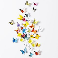 Wall Stickers Wall Decals, 38 Pcs Set of 2 Emulational Butterfly PVC Wall Stickers