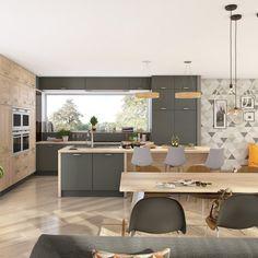Une cuisine grise dans la tendance scandinave - Marie Claire Maison