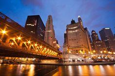Under Michigan Avenue Bridge, via Flickr