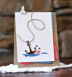 Ahoy Card by Amy Sheffer for Papertrey Ink (June 2015)