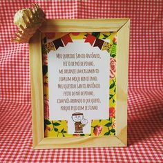 E pras solteiras?? Só oração! Haha aproveitando o dia do santo e brincando com casamento! Que tal para o seu charraiá?!? #festajunina #saojoao  #casamentochegando #casamento #casamentomoderno  #wedding #noiva #santoantonio #eleeela #portaretrato #plaquinhacasamento #personalizados #papelaria