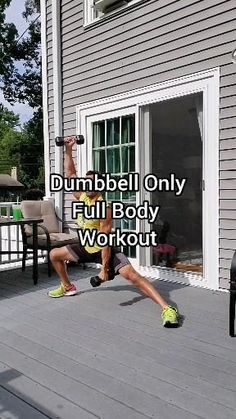 Dumbbell Only Workout, Full Body Hiit Workout, Gym Workout Videos, At Home Workouts, Body Workouts, Boxing Workout, Fitness Nutrition, Physical Fitness, Bodybuilding
