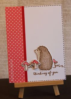 """maikreations Clean and simple look using Avery Elle's """"More Stories"""" stamps and patterned paper from Lawn Fawn."""