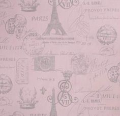 Pink & Silver French Stamp