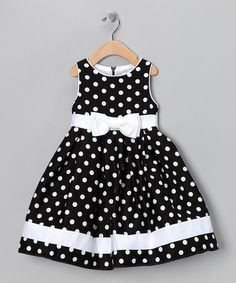Love this Black & White Dotty Dress - Toddler on #zulily! #zulilyfinds