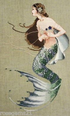 MERMAID ~ Cross Stitch CHART by Mirabilia
