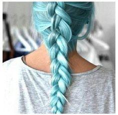 Light blue hair:)