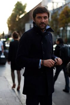http://chicerman.com  sartorialdoctrine:  The peacoat is one of the most versatile pieces of outerwear there is it can be worn with a regular sweater under or to a formal outfit. The guy at the picture shows the Italian take on how to wear it looks great! I would call it the definition of casual friday.  #MENSUIT #TAILORSUIT