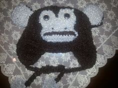 knitted animal hat monkey