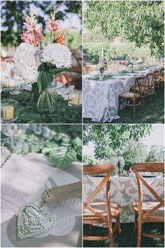 Rustic outdoor Napa Valley wedding with Ankara Taupe linens from Napa Valley Linens   edyta szyszlo photography