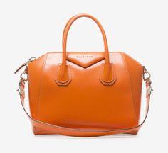 Givenchy Givenchy Orange Leather Small Antigona Bag