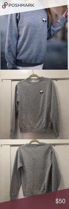Brandy Melville John Galt alien patch sweatshirt Super cute John Galt/ Brandy Melville Allen patch sweatshirt in great shape / only worn a few times. Osfm- one size., Brandy Melville Sweaters