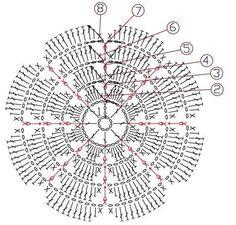 Delicadezas en crochet Gabriela: Flor de ganchillo muy fácil