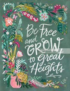 Welcome to the site of surface designer, textile designer, illustrator, graphic designer and coach for artists, Jeanetta Gonzales Hand Lettering Art, Typography Art, Calligraphy Art, Graphic Design Typography, Watercolor Drawing, Watercolor Bird, Watercolor Illustration, Scandinavian Folk Art, Plant Drawing