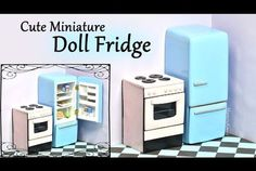 Miniature Vintage Refrigerator Tutorial