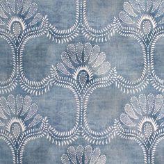 Odessa - <p>Blue </p><p>Composition: 43% Cotton, 57% Linen</p><p>Design Width: 136cm</p><p>Repeat: 27cm </p><p>Also available in Orange, Chamois, Mastic