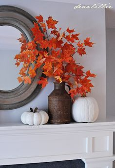 Are you ready to decorate for fall but have a tight budget? Try one of these budget-friendly simple DIY Fall Mantle Ideas. The post DIY Fall Mantel Ideas appeared first on Dekoration. Fall Mantle Decor, Fall Home Decor, Autumn Home, Autumn Mantel, Mantle Ideas, Fall Mantels, Mantles, Fall Yard Decor, Home Decoration