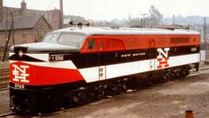 A company photo of New Haven PA 1  0760, following its repaint into the McGinnis livery sometime during the mid 1950s.