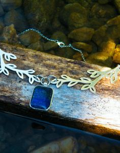Handmade Blue Branches Necklace