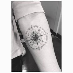 Fine line compass tattoo on Brooklyn Beckham's left inner forearm. Tattoo Artist: Dr. Woo