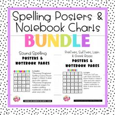 This bundle includes my Sound Spelling and Prefixes, Suffixes, Latin, and Greek Roots Posters and Notebook charts resources. These packs follow the Orton Gillingham and Science of Reading systematic spelling and word study sequence for phonemes, graphemes, and morphemes for elementary and middle gr... Gillingham, Prefixes, Word Study, Writing Activities, Teaching Tools, Spelling, Charts, Roots, Greek