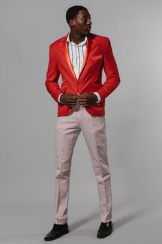 Red Mens Blazer by Galapego on Etsy