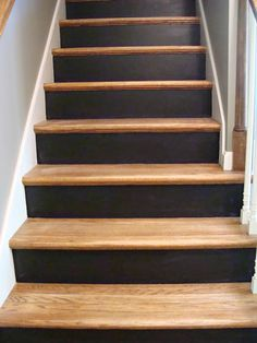 Chalkboard Stairs Stairs Makeover chalkboard Stairs Stairs Makeover chalkboard M… – Decor is art Painting Wooden Stairs, Black Painted Stairs, Painted Stair Risers, Black Stairs, Painted Staircases, Stairway Paint Ideas, Redo Stairs, House Stairs, Basement Stairs