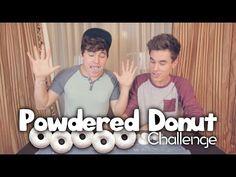 Powdered Donut Challenge - YouTube