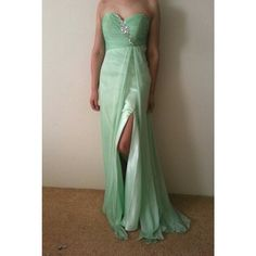 6daa43ded84 Spotted while shopping on Poshmark: Mint Green Formal Prom Dress! #poshmark  #fashion