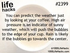 Coffee predicts the weather, apparently