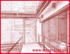 Dibujo - interior. ESCUELA DE DIBUJO Y PINTURA wenecjusz.pl Drawing Interior, Technical University, Learn To Draw, Neon Signs, Fine Art, Drawings, Places, Painting, Dibujo