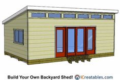 16x24 Modern Shed Plans.