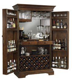 Amazon.com - Howard Miller 695-064 Sonoma Hide-A-Bar Wine Cabinet - Home Bars