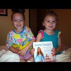 I love these twins from Michigan. Their mom has joined the #SweetDesigns virtual book club!
