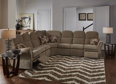 Ashton Wall Hugger Reclining Sectional