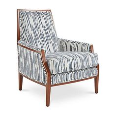 Bergen Accent Chair, Glacier Blue - Joe Ruggiero - Brands One Kings Lane , Room Interior, Interior Design, Home Collections, Designer Collection, Kings Lane, Decor Styles, Accent Chairs, Armchair, Upholstery