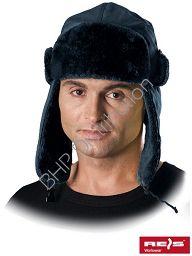 Granatowa czapka uszanka CZOEXTREME
