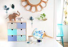 DIY : Petit meuble recouvert de papier japonais sur le blog d'Adeline Klam