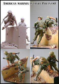 US Marines in action. This kit includes two figures and a base! Click on the picture for more details.